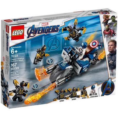 LEGO SUPER HEROES Capitaine America : l'attaque des Outriders 2019